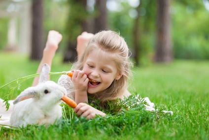 Kaninchen - Haustiere fuer Kinder